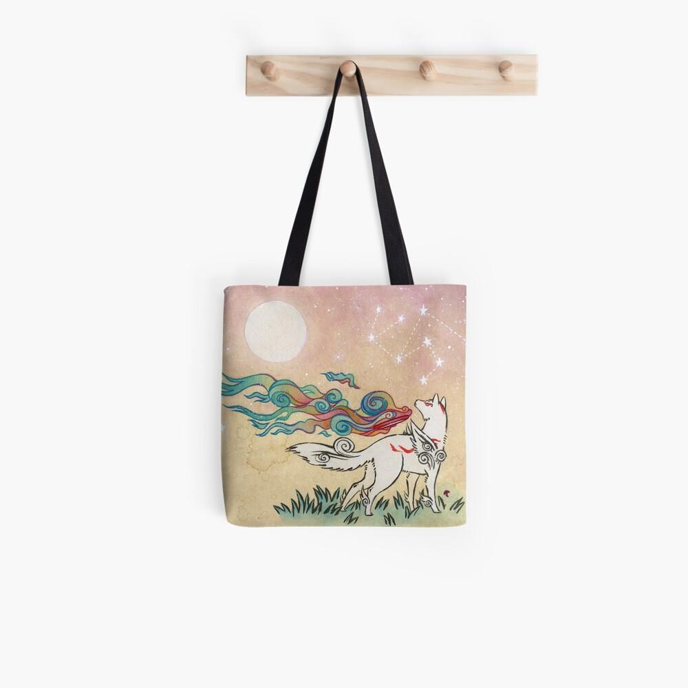 Amaterasu Wolf Tote Bag