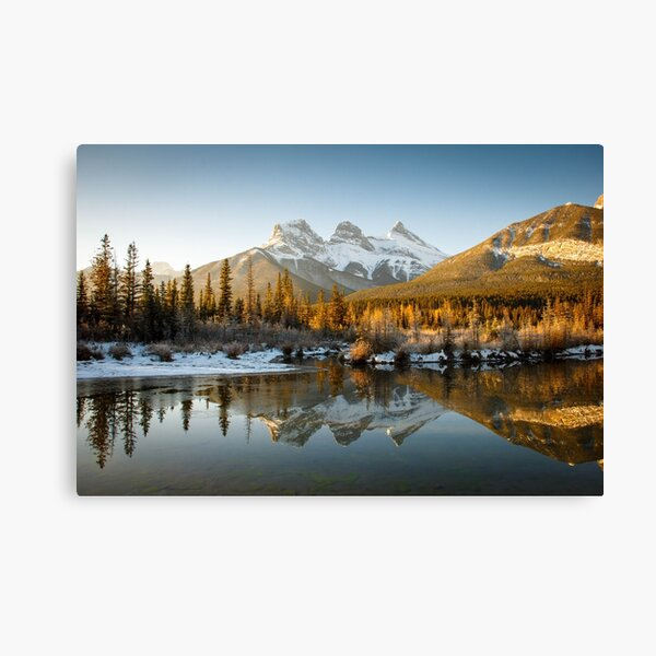 Three Sisters Canmore Sunrise Canvas Print