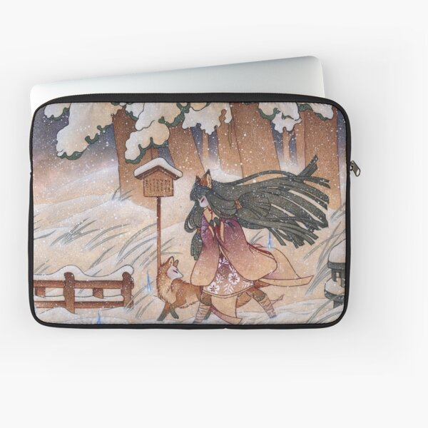 Blustery - Kitsune Yokai TeaKitsune Laptop Sleeve