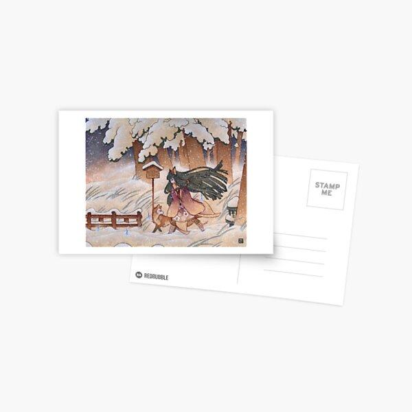 Blustery Postcard