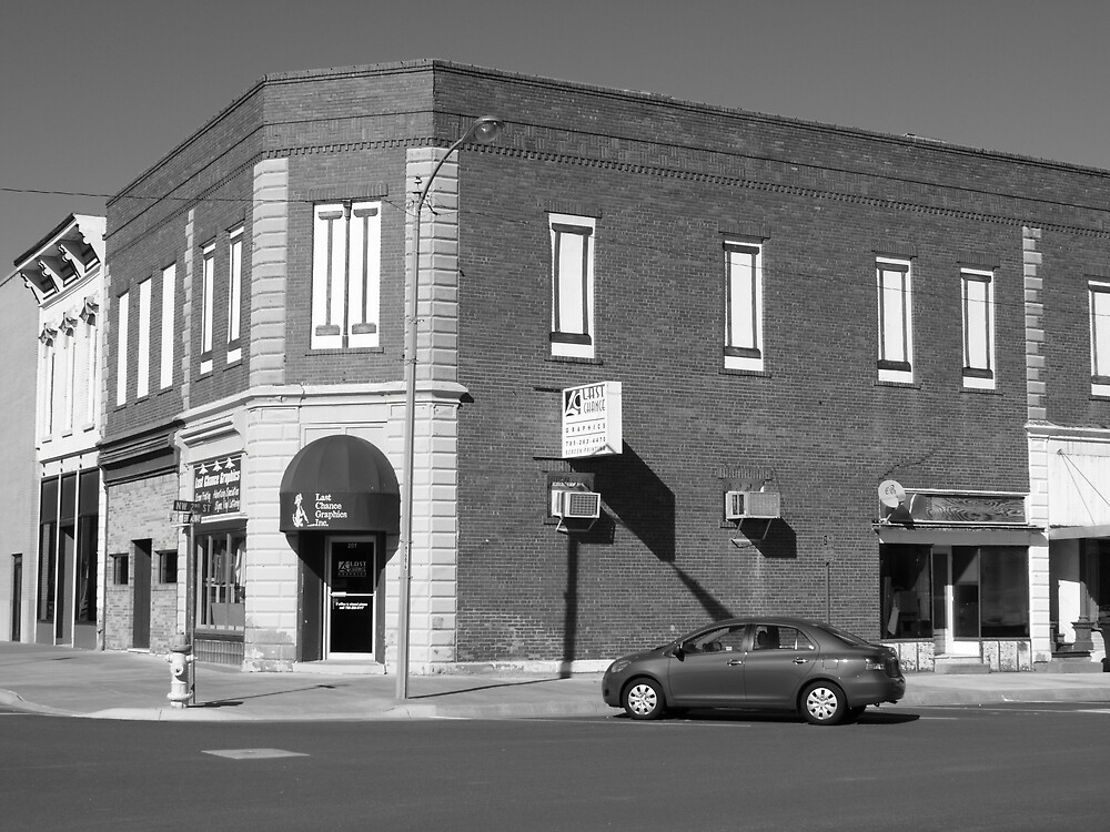 Abilene, Kansas - 2nd and Broadway by Frank Romeo