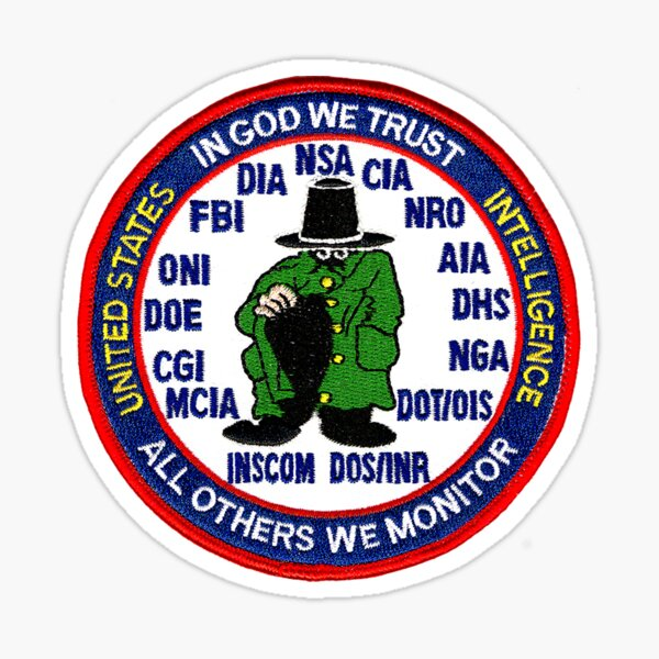 United States Intelligence Sticker