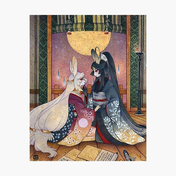 Miri & Akemi - Moon Rabbit Usagi Photographic Print