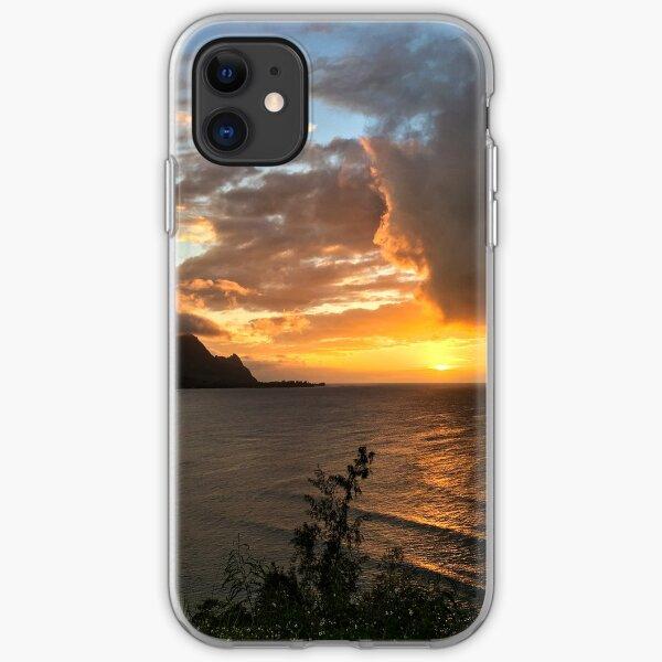 Bali Hai sunset, Kauai, Hawaii iPhone Soft Case