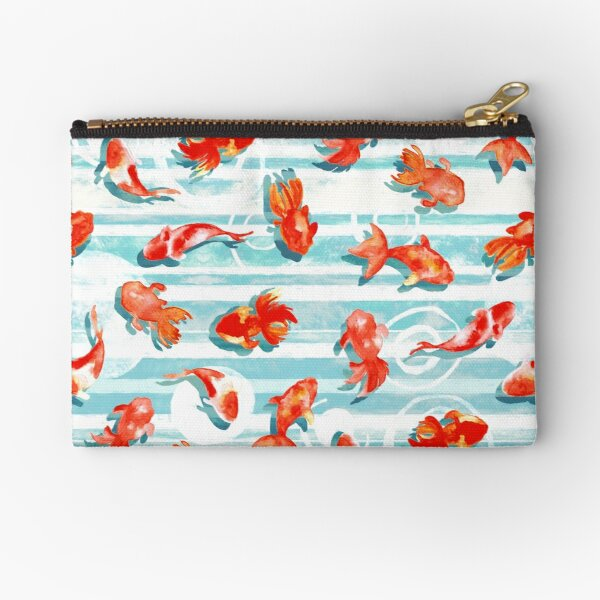 Watercolor Goldfish Zipper Pouch