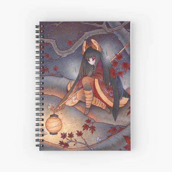 Lantern Light - Kitsune Yokai TeaKitsune Spiral Notebook