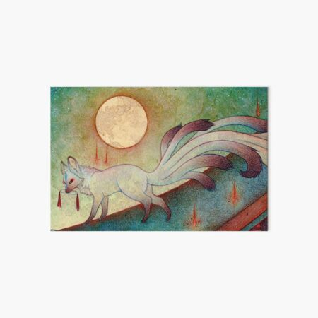 The Messenger - Kitsune, Fox, Yokai Art Board Print