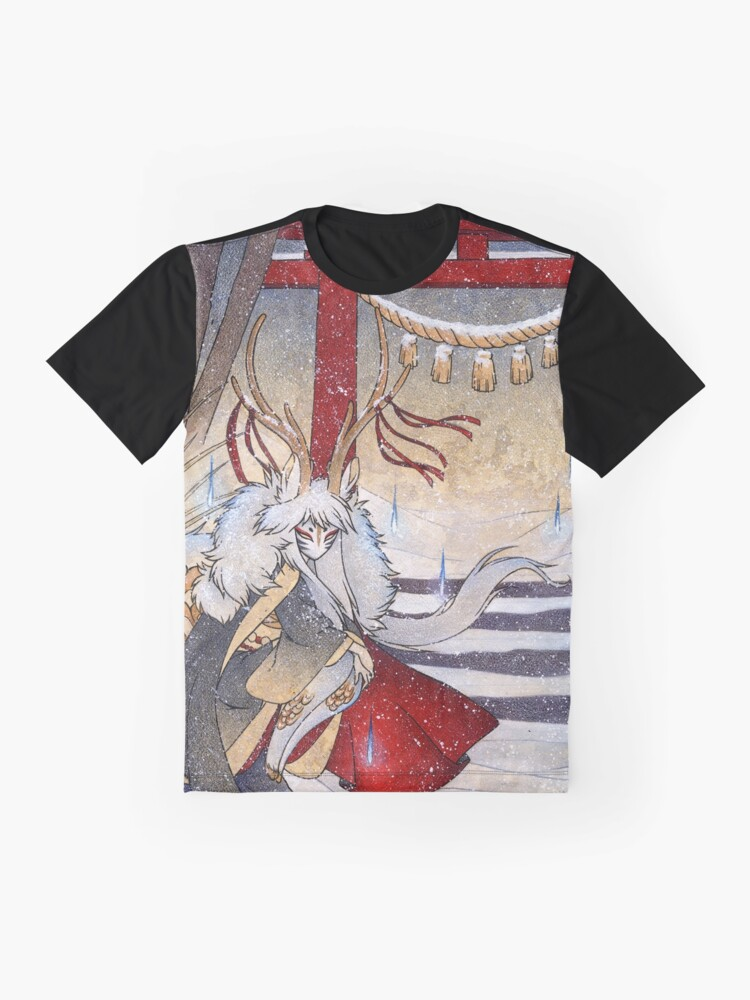 Alternate view of The Summit Gate - Deer Kirin Yokai Spirit Graphic T-Shirt