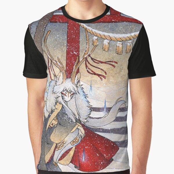 The Summit Gate - Deer Kirin Yokai Spirit Graphic T-Shirt