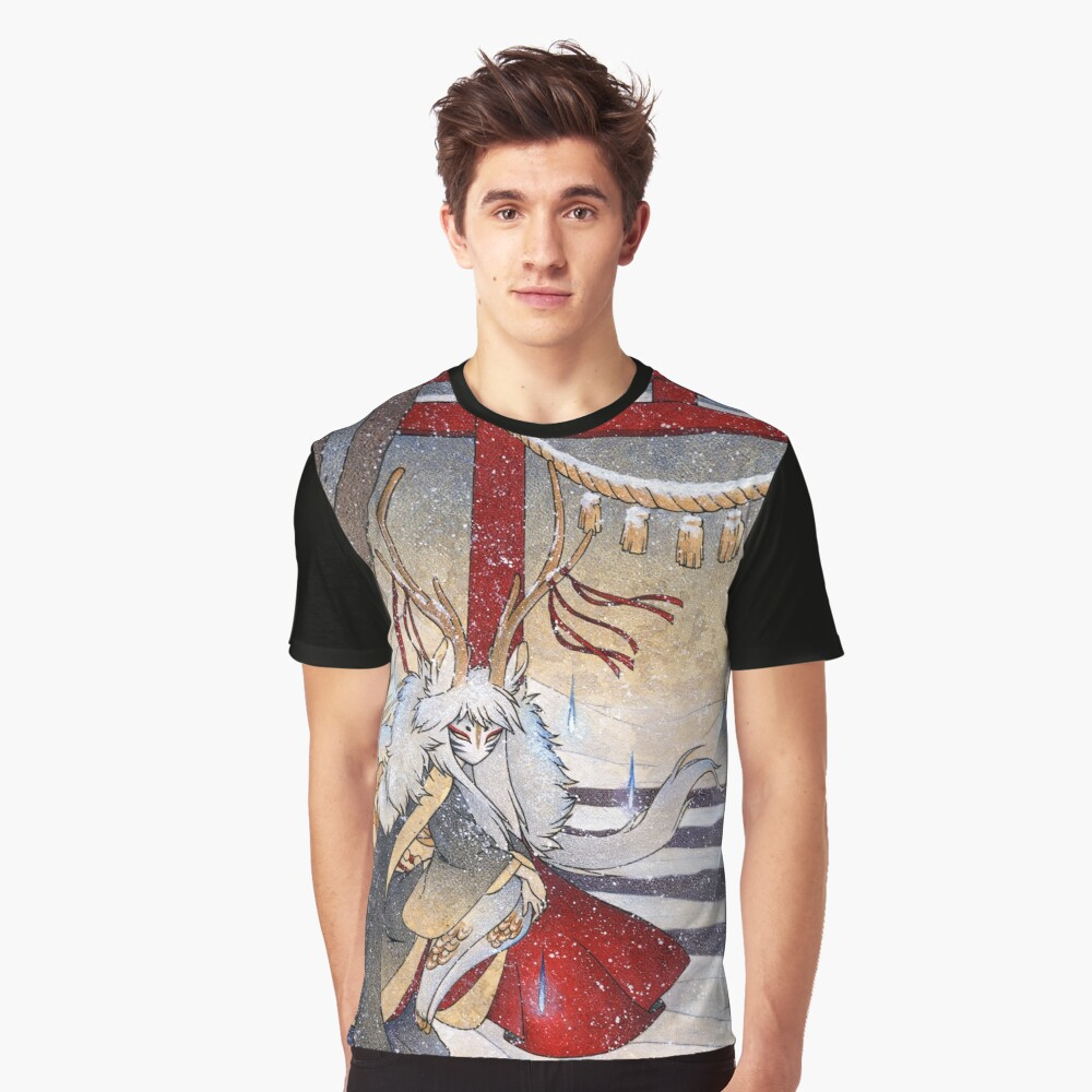 The Summit Gate - Deer Kirin Yokai Spirit Graphic T-Shirt