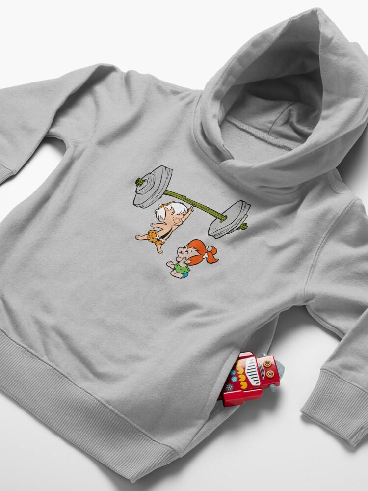 Alternate view of Bamm-Bamm Impresses Pebbles Toddler Pullover Hoodie