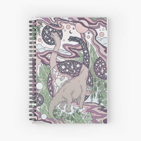Jurassic Portal | Purple Haze Palette | Dinosaur Science Fiction Art Spiral Notebook