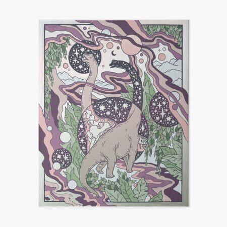 Jurassic Portal | Purple Haze Palette | Dinosaur Science Fiction Art Art Board Print