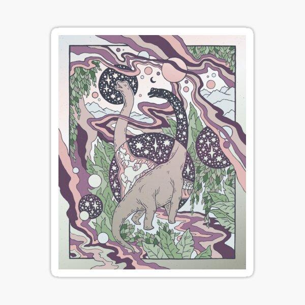 Portal Jurásico | Paleta Purple Haze | Dinosaurio Ciencia Ficcion Arte Pegatina