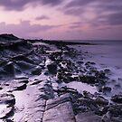 Kilve Beach at Dusk by kernuak