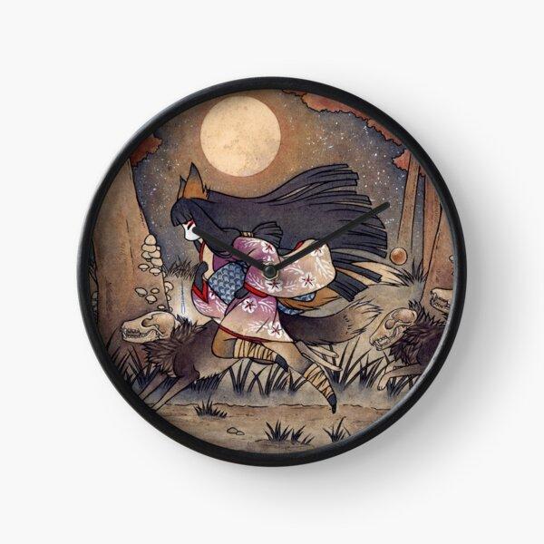 Running With Monsters - Kitsune Fox Yokai  Clock