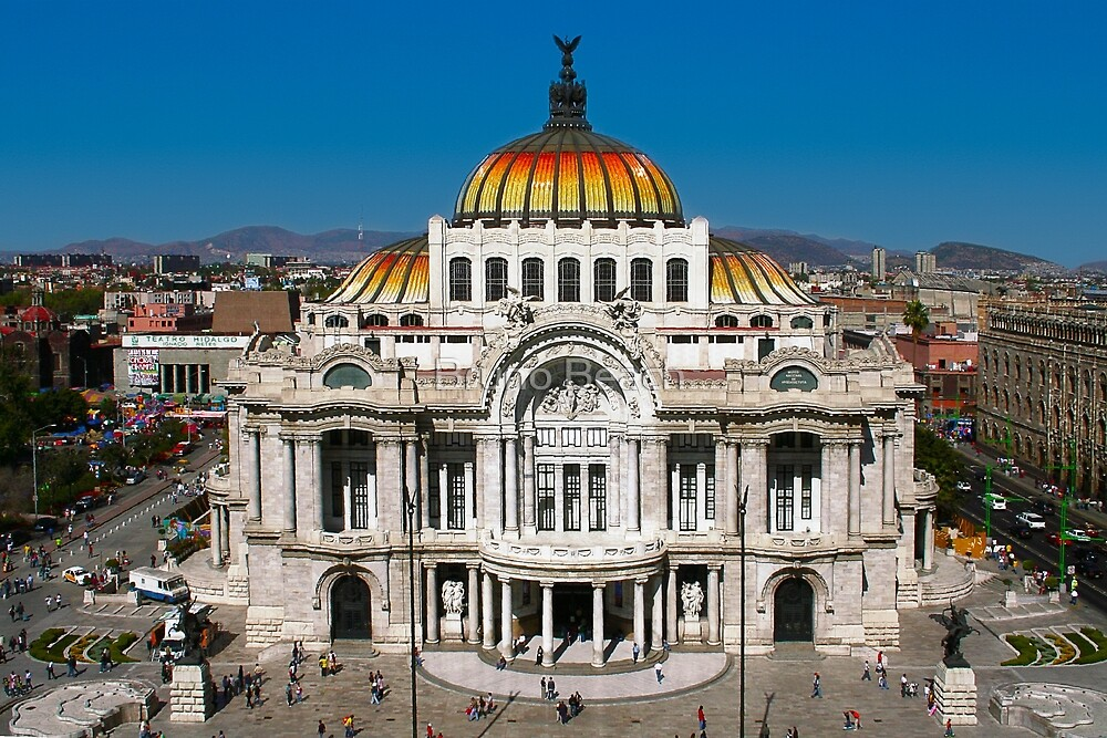 The Fine Arts Palace in Mexico City by Bruno Beach