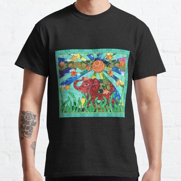 Red Elephant Walking Classic T-Shirt