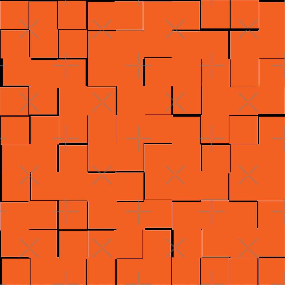 Orange Geometric by MidModStyle