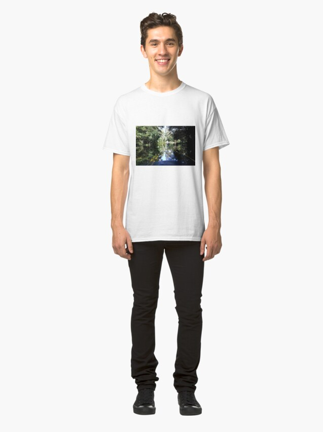 Alternate view of The Bicyclist and the Mirrored Pond Classic T-Shirt
