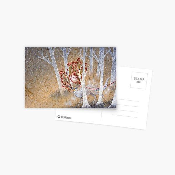 Capturing Fate - Deer Cervine Yokai  Postcard
