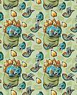 Pocket Stegosaurus Pattern 2 by MudgeStudios