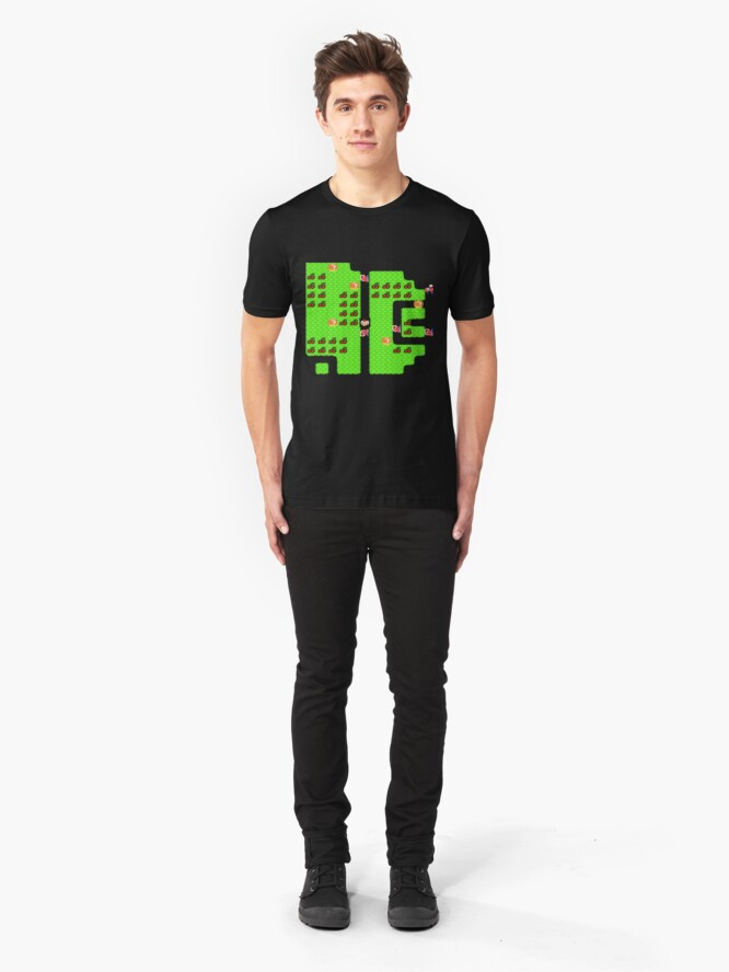 Alternate view of Retro Arcade Mr Do Slim Fit T-Shirt