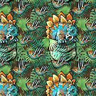 Pocket Stegosaurus Pattern 1 by MudgeStudios
