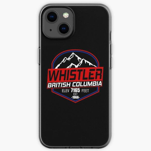 Ski Whistler B.C Canada Skiing and Mountain Biking Paradise iPhone Soft Case