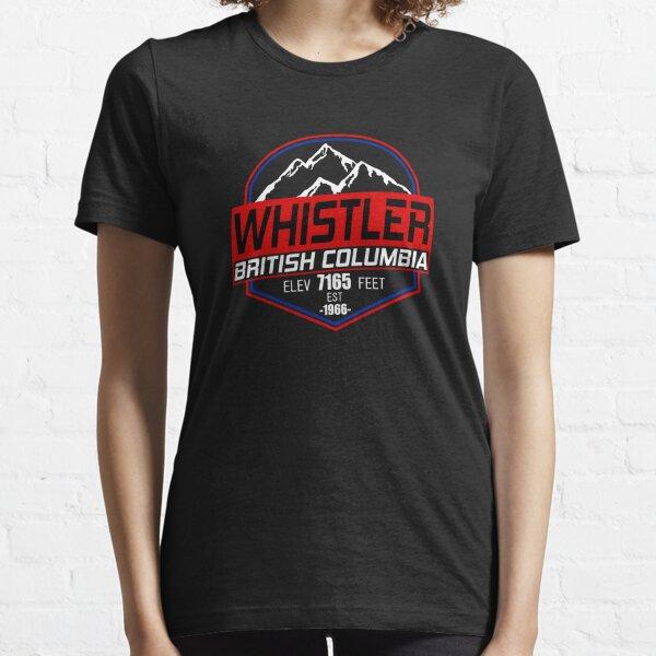 Ski Whistler B.C Canada Skiing and Mountain Biking Paradise Essential T-Shirt