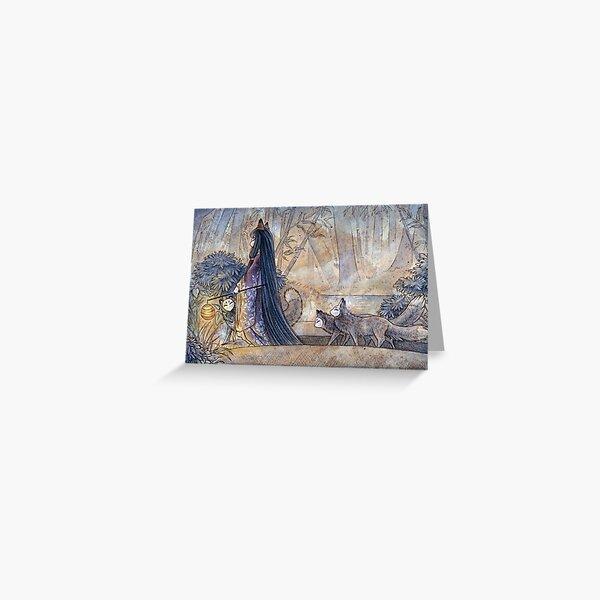 Silent Crossing - TeaKitsune Fox Yokai Greeting Card