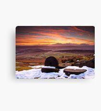 Stanage Sunset Peak District Canvas Print