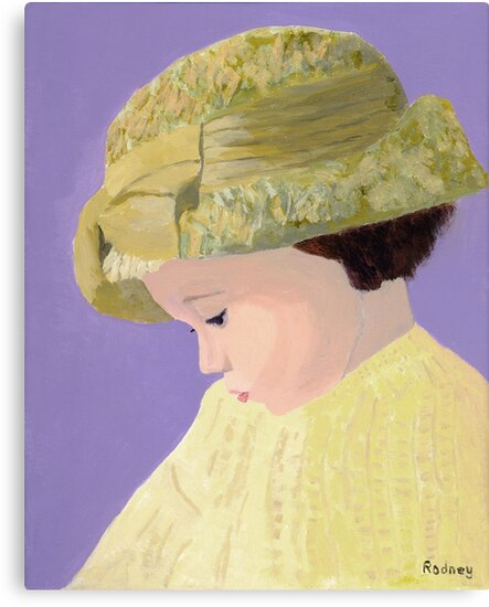 The Girl With The Straw Hat by Rodney Campbell