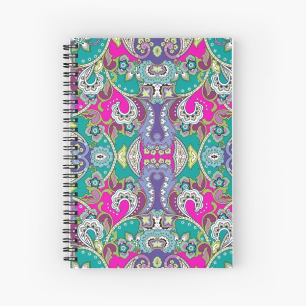 Paisley Passion Spiral Notebook