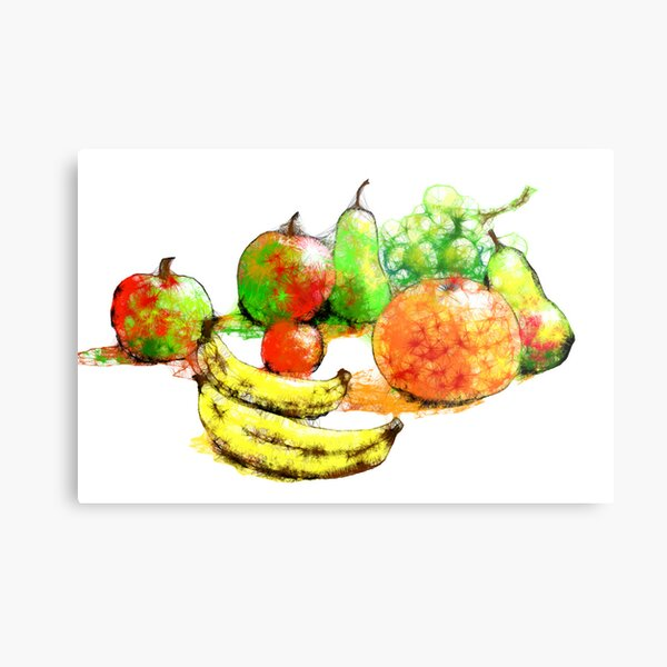 Scribbler fruit Metal Print