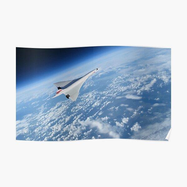 """Concorde """"courbure de la terre"""" Poster"""