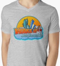 Wake Up San Francisco Men's V-Neck T-Shirt