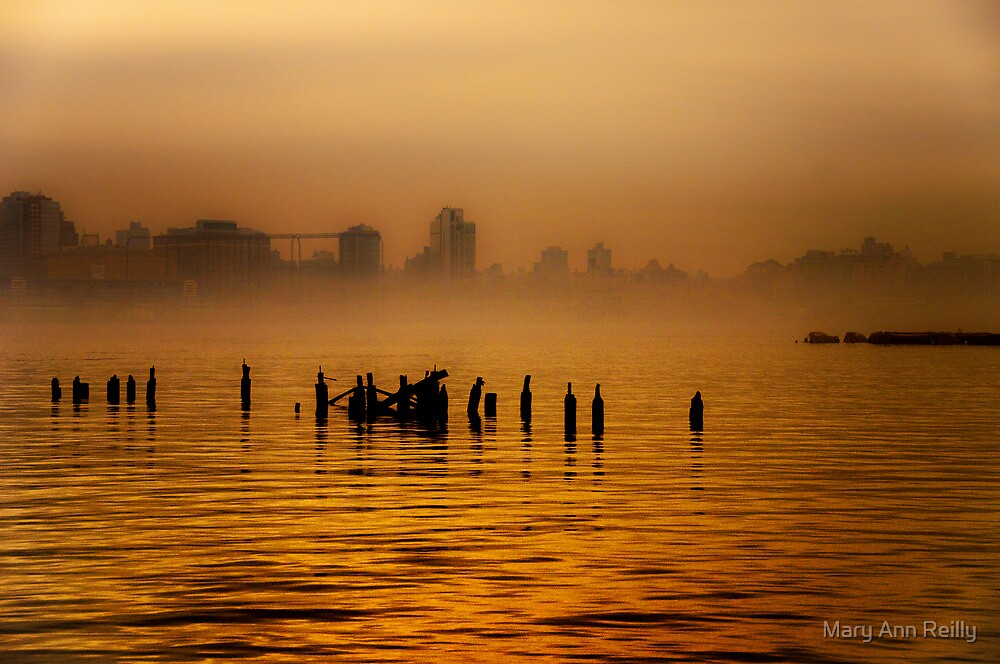 Hudson River Fog by Mary Ann Reilly