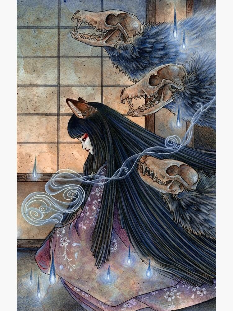 Unmasked - Kitsune Fox Yokai Skull by TeaKitsune
