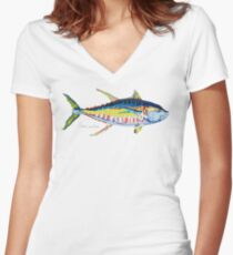 Yellowfin Tuna No.8 Fitted V-Neck T-Shirt