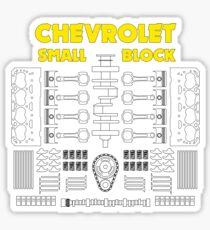 Chevrolet Small Block V8 Engine Parts  Sticker