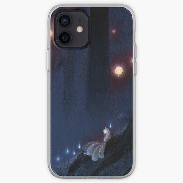 Forest Ghost - Kitsune Fox Yokai  iPhone Soft Case
