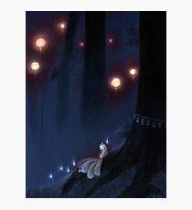 Forest Ghost - Kitsune Fox Yokai  Photographic Print