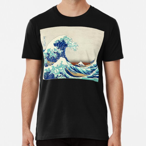 Japanese Vintage Lithograph, The Great Wave off Kanagawa 1830 Premium T-Shirt