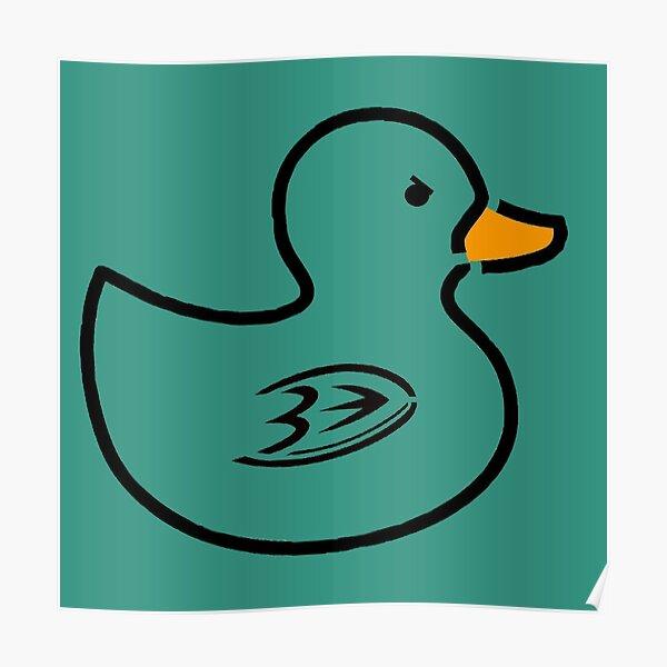 Anaheim Rubber Ducks - Teal Poster