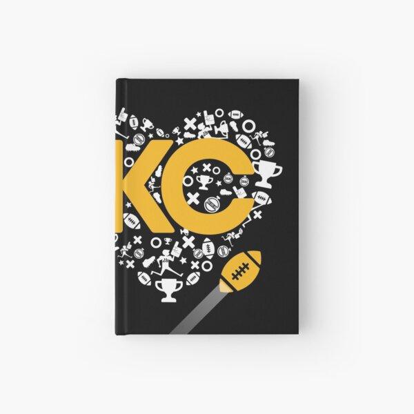 I Love Kansas City Football Tee Heart KC  Hardcover Journal