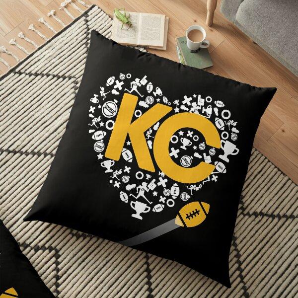I Love Kansas City Football Tee Heart KC  Floor Pillow