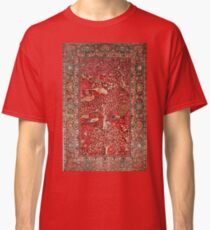 Antique Persian Rug Bird Tree Flowers ca. 1600 Classic T-Shirt