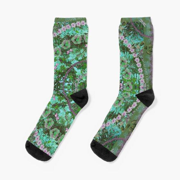 Deep Green Woods Socks