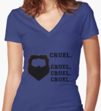 Cruel. Cruel. Cruel. Cruel. Women's Fitted V-Neck T-Shirt